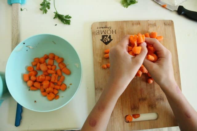 Cooking with toddlers or kids can fun, educational, and even help them learn to eat new foods. Find out what cooking activities your child can do and get a list of inspiring recipes and tips to keep your sanity!