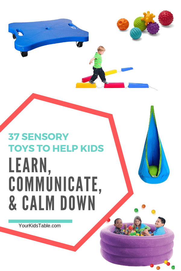 Mega list of sensory toys to encourage your child's learning, communication, and even calming! These sensory toys are perfect for toddlers, autism, sensory seekers, and special needs. #sensory #sensoryprocessing #Sensoryprocessingdisorder #sensorytoys #kids #toddlers #Autism #parenting #giftideas #giftideasforkids #sensoryactivities #sensorydiet