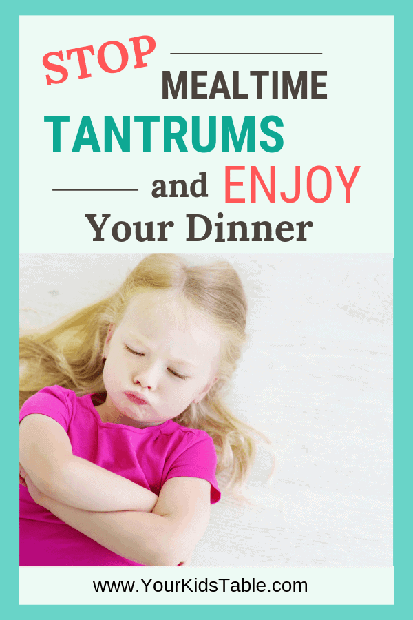 Tantrums during meals can leave you feeling drained and frustrated, but there's a way to stop the cycle and teach your child to come to the table for meals without all the drama! #parenting #parentingtips # toddlers #toddlertantrums #enjoydinner