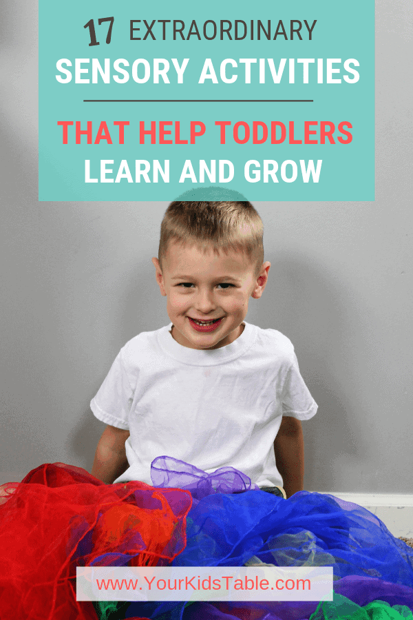 Get a cache of easy sensory activities for toddlers that aren't just fun and keep your kiddo busy, but also help them develop and learn! #sensoryactivities #sensoryactivitiesfortoddlers #toddlers