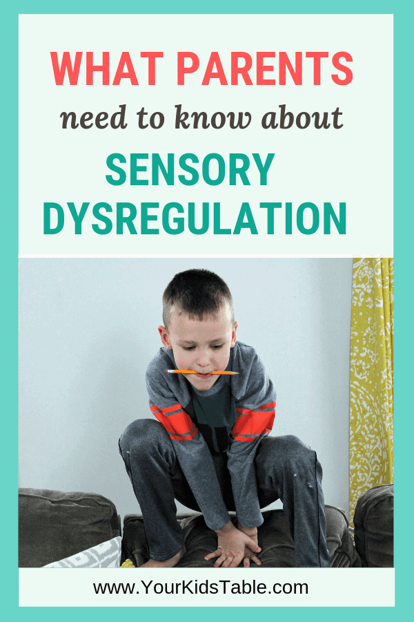 Learn what it looks like for your child to be in sensory dysregulation and how to help them get out of it and prevent it in the future. #sensorydysregulation #sensoryprocessingdisorder #spd #sensory
