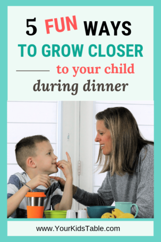 5 Fun Ways to Grow Closer to Your Child During Dinner