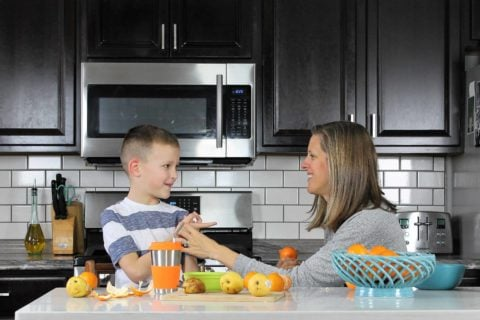 Getting dinner on the table day in and day out can be exhausting, but it's worth it. Check out these benefits to sitting down as a family and learn 5 easy ways to connect even more with your child in the process!