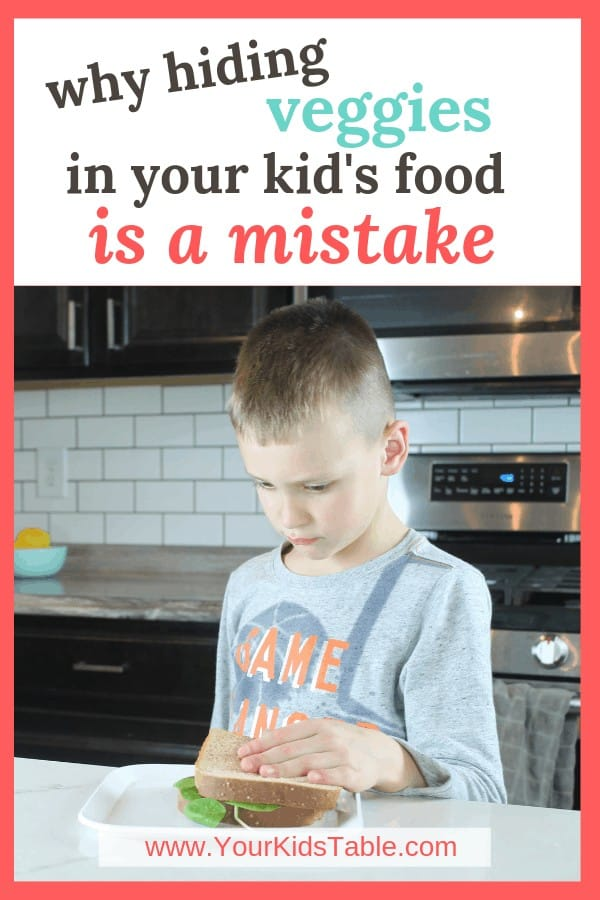 What if hidden veggie recipes caused more harm than good or kids eating? Find out what you can do instead to help teach your kid to enjoy vegetables throughout their whole life without making picky eating any worse than it already is. #hiddenveggies #hiddenveggierecipes #hiddenveggiesforkids #hideit
