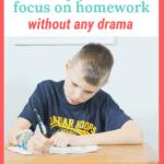 Easy Ways to Help Your Kid Focus on Homework