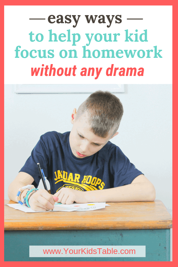 Easy Ways to Help Your Kid Focus on Homework