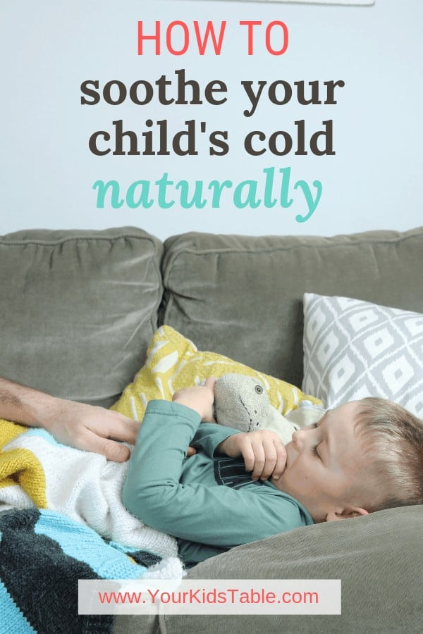 Give your child or toddler safe relief from that nasty cold with these 5 natural remedies that soothe! #sorethroat #immunebooster #naturalcoldremedies #naturalcoldremediesforkids