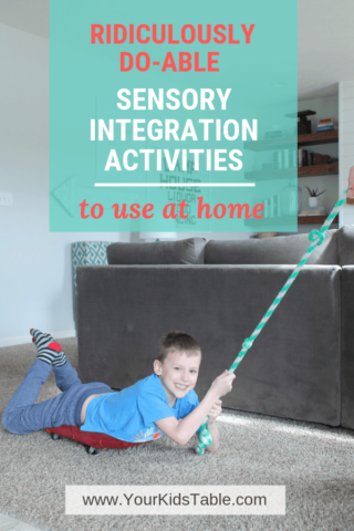 Ridiculously Do-Able Sensory Integration Activities to Use at Home