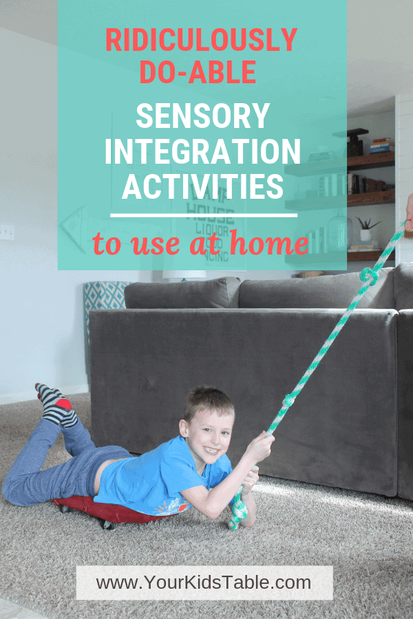 Sensory integration activities can have a massive impact on a child's development. Learn powerful ones that are easy for parents to do at home! #sensoryintegrationactivities #sensoryintegrationactivitiesfortoddlers #sensoryintegrationtherapy #sensory