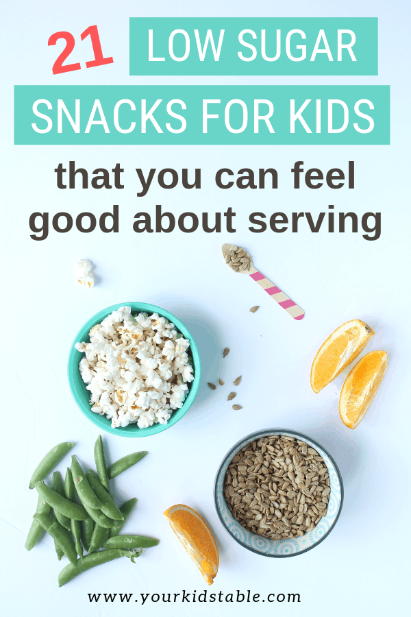 Want to feel good about the snacks you're feeding your child? Try these 21 different low sugar snacks for kids that you can pull together easily and quickly! #lowsugarsnacks #lowsugarsnacksforkids #simplelowsugarsnacks #lowsugar