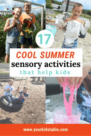 Discover awesome sensory activities that are E-A-S-Y and prefect for summer! These activities are designed to promote development and learning no matter what age your child is.  #summersensoryactivities #summersensoryactivitiesfortoddlers #summerfun #summersensoryactivitiesforkids