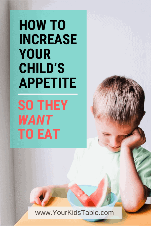 Want to know how to increase appetite in a child? Find out 5 different tips to help your child want to eat so that you can enjoy meals and end that stressful worry! #nothungry #kidswonteat #increaseappetite #dinnersready