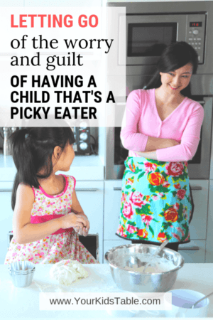The weight of worry and guilt when you have a picky eater can be crippling! Find out how a mom of an extreme picky eater turned it all around! #pickyeating #pickyeater #pickyeatingworries #worriedaboutpickyeating