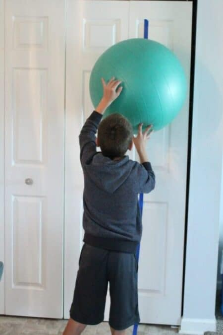 Learn 7 easy ways to use a therapy ball to give your child a ton of sensory input! Plus, get the scoop on what different types of sensory balls are used for.