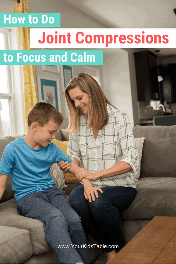Joint compressions are a free and powerful sensory tool to use to help kids calm down and follow directions! Learn how to do them the right way and when you shouldn't use them as a sensory activity... #jointcompression #jointcompressionforkids $jointcompressionsensory #sensory #jointcompressions
