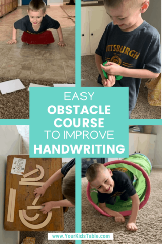 Easy Obstacle Course to Improve Handwriting
