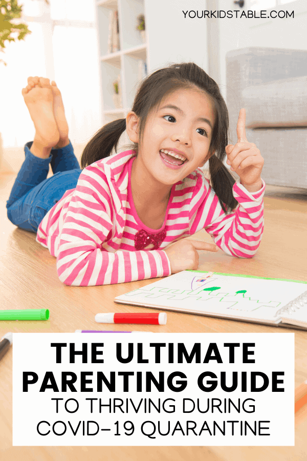 Get immune-boosting ideas, tools for meal planning with kids, beneficial developmental activities, and strategies to help your child overcome their challenges with all the extra time we have during the coronavirus quarantine. Our kids can thrive during this challenging time! #quarantineactivities #quarantine #parentsguide #kidsactivities