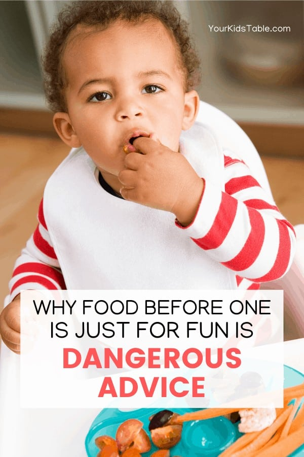 Why Food Before One is Just For Fun is Dangerous Advice