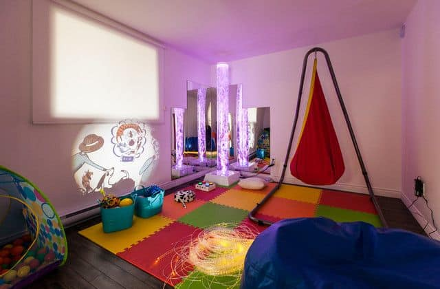 Get inspired with these easy sensory room ideas for kids! And, learn step by step how to create your own sensory room on a budget.