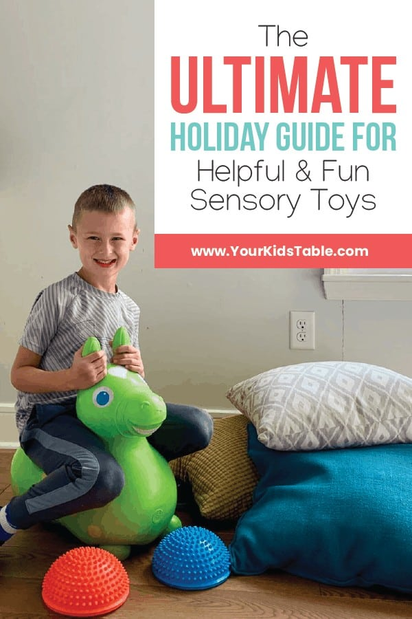 If you're looking to get a special gift for your child this holiday season that will last and help your child develop, then dive into this mega sensory toy holiday guide to find an awesome toy for your child!