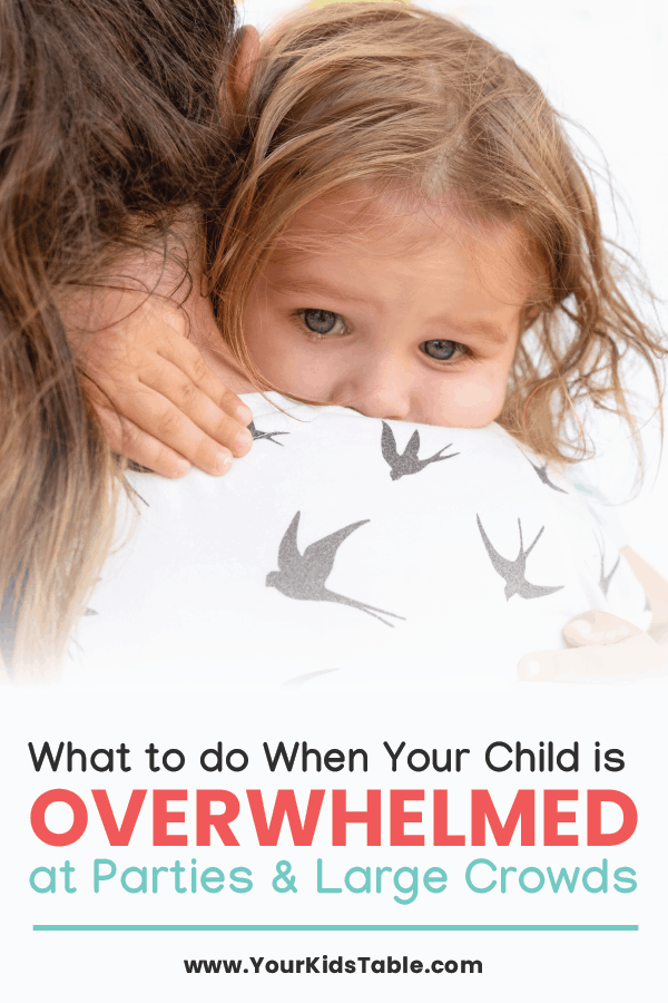 Some kids are overwhelmed and scared to attend parties or other crowded spaces. It might be more than shyness. Figure out what's going on and how to help your child! #childoverwhelmed #whenchildrenareoverwhelmed #whenachildisoverwhelmed