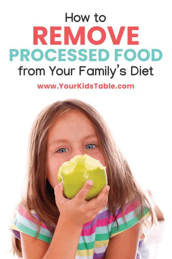 Ready to remove or decrease processed foods from your family's diet? I have you covered with 7 simple steps that are painless and eliminate stress. You can do this! #howtoavoidprocessedfoods #avoidprossecfoods #processedfoodslisttoavoid #processedfoods #processedfoodstoavoid