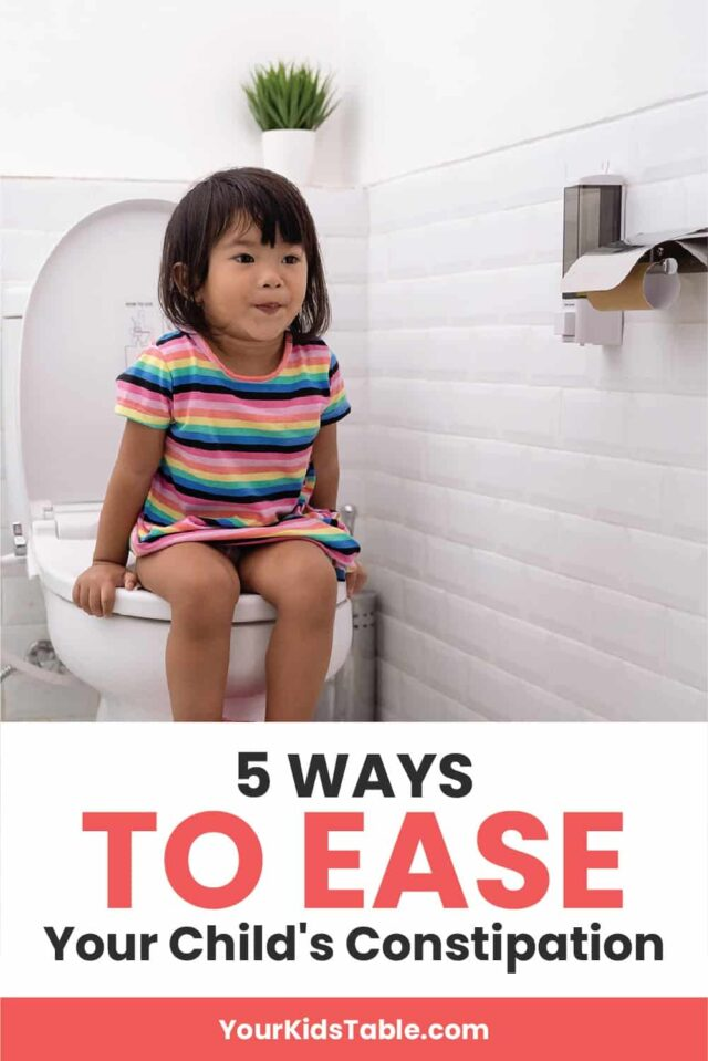 Constipation has become common in children, and not only is it uncomfortable, it also can effect what and how much food a child eats! Learn how to ease your kids constipation so they can eat and feel well... #constipationinkids #kidsconstipation