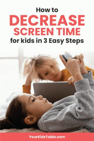 How to Decrease Screen Time for Kids in 3 Easy Steps