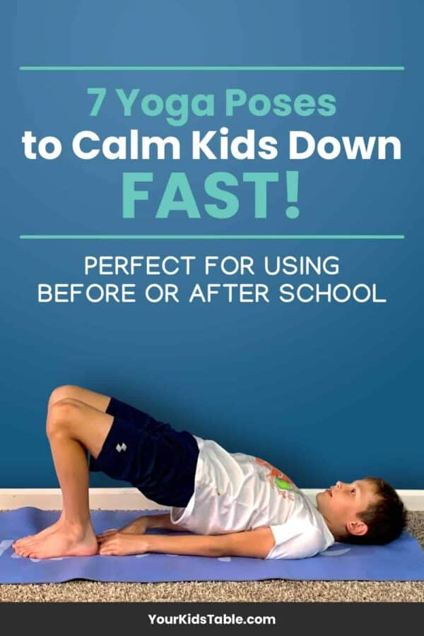Get your hands on 7 yoga poses that are easy for kids but help them calm down whether their anxious, overstimulated, or have sensory issues. Easy to follow photos and descriptions for each calming yoga pose for kids.