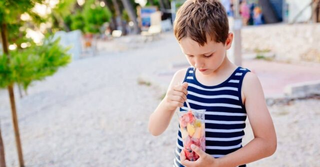 Learn 9 easy tricks to travel and go on vacation stress free with a picky eater for your next trip. And, take advantage of a couple of simple ways to get your kid trying new foods while on vacation!