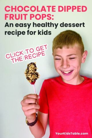 Chocolate Dipped Fruit Pops: An easy healthy dessert recipe for kids