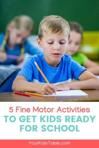 5 Fine Motor Activities to Get Kids Ready for School