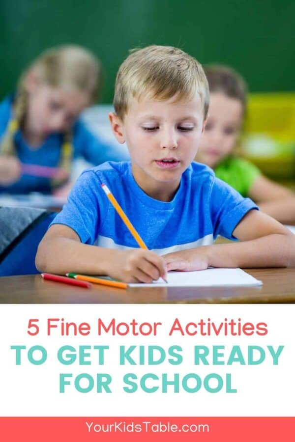 Get your kids ready to go back to school with these fun fine motor activities that will have your child's hands ready for writing and cutting! #finemotoractivities #preschool #kindergarten